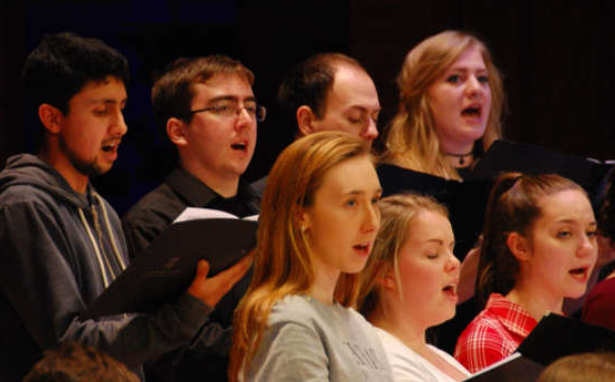 Singers in a choir