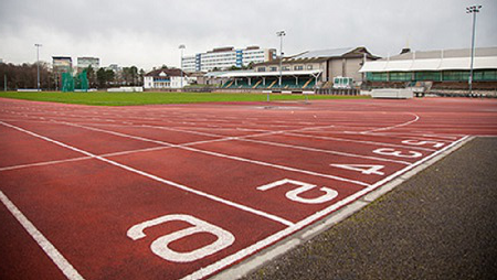 image showing running track